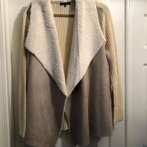 Napa Valley Sweater Faux Shearling 1x